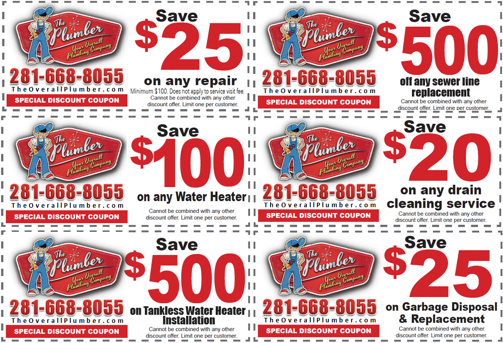 Plumbing Service Coupons - Emergency