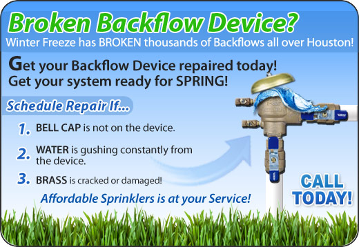 Brazoria County Back Flow Repair, Installation, Certification and Testing Specialist