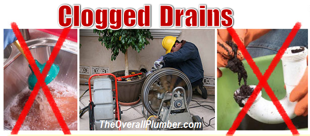 Clogged Drain Cleaning, Clogged Pipe cleaning