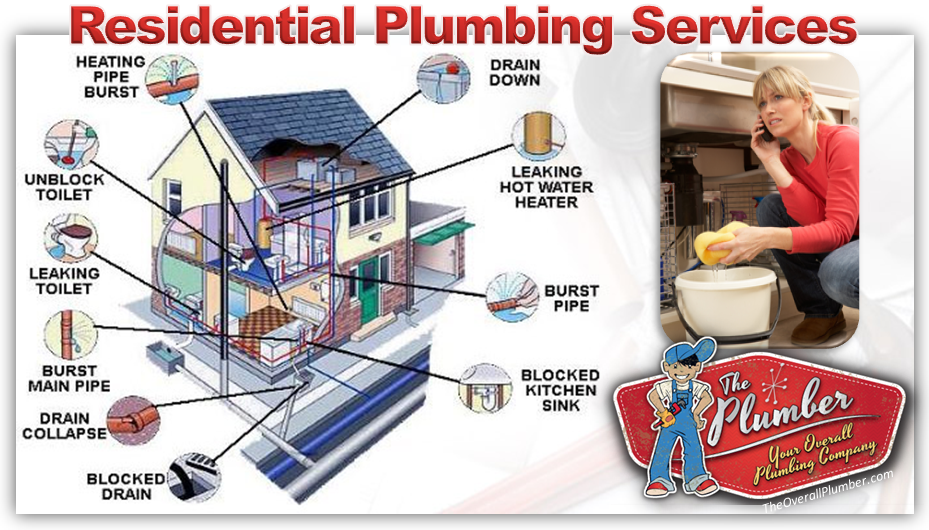 Residential Plumbing Services Brazoria County Plumber - TheOverallPlumber