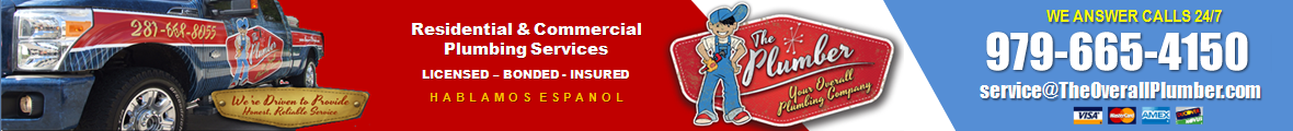Overall Plumber – Water Heaters, Clean Drains, Fix Pipes, Replace Sinks